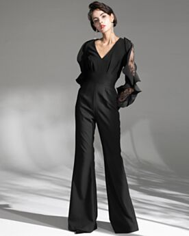 Evening Dresses Long Sleeve Long Modest Charming Jumpsuits