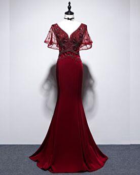 Plunge Open Back Formal Evening Dress Mermaid Long Charmeuse