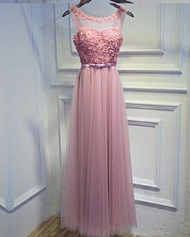 Long Open Back Blush Pink Evening Dresses Bridesmaid Dress Cold Shoulder Bohemian Juniors 2019 Empire
