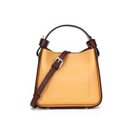 Cute String Shoulder Bag Bucket Bag Designer Crossbody Yellow Full Grain Womens Bag