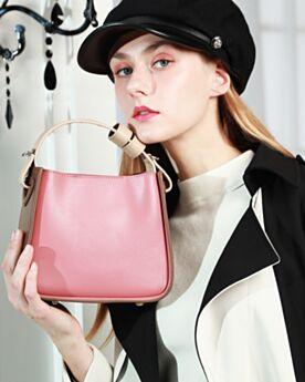 Bucket Bag Schöne Full Grain Mode Tasche Crossbody Umhängetasche Griffe