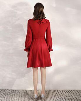 Vestidos De Fiesta Color Vino Vestidos Para Bodas 2020 Cortos Sencillos Escote V