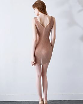 Transparent Hot Dress Open Back 2019 Sheath Plunge Short Sexy Cocktail Dress