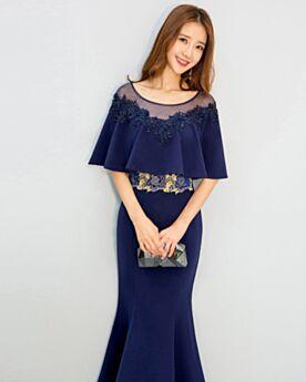 Wedding Guest Dress Mermaid Formal Evening Dress Long Appliques Ruffle Satin
