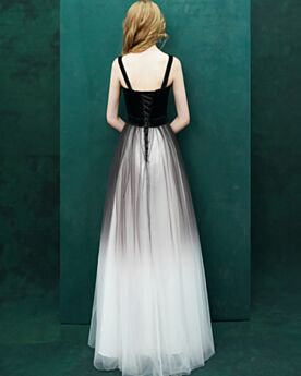 Ballkleider Rückenfreies Vintage Schlichte Samt Empire Abendkleider