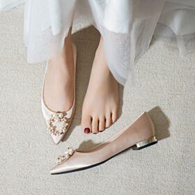 Ballerina 2020 Perlas Elegantes Zapatos Para Boda Planas En Punta Fina