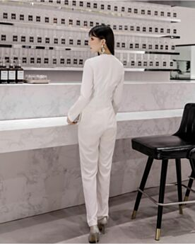 Ufficio Bianco Tutone Elegante A Portafoglio Uscire Chiffon Modesti