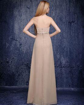 Brautjungfernkleid Abendkleid Schulterfreies Kleider Hochzeitsgäste Elegante Etui Festliche Kleider Rückenausschnitt Tragerloses Chiffon Schlichte Umstands