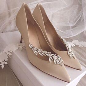Chaussure De Soirée Escarpins Scintillante Talons Aiguilles 8 cm Talons Hauts Cristal Chaussure Demoiselle D honneur