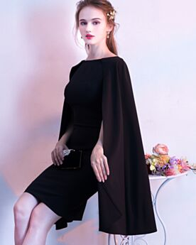 Abiti Cerimonia Di Raso Peplo Neri Corti Tubino Little Black Dress