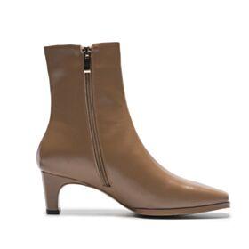 Hakken Laarzen Stiletto Bruine Enkellaarsjes 5 cm / 2 inch