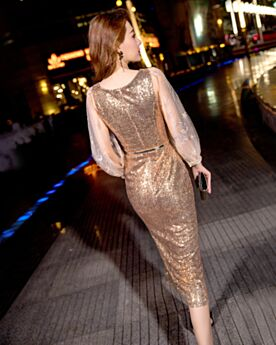 Christmas Dress Sheath Sparkly Cocktail Dress Sequin Long Sleeved