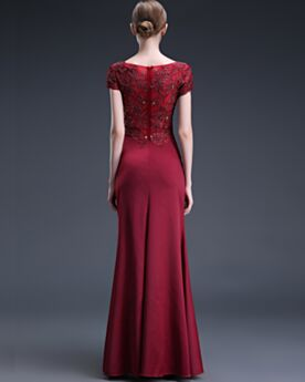 Elegante Lange Kleider Hochzeitsgäste Spitzen Applikationen Abendkleid Brautmutterkleider