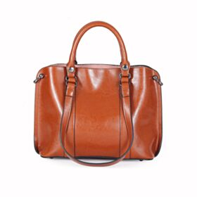 Briefcase Vintage Shoulder Bag Brown Womens Handbag Full Grain With Top Handle Large