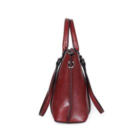 Shoulder Bag Burgundy Handbag Vintage Leather