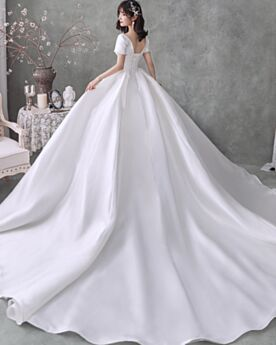 Beautiful Vintage Bandeau Open Back Wedding Dress Ball Gown