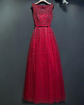 レース フォーマル イブニングドレス エレガント ブライズメイドドレス ロング パーティー ドレス エンパイア キラキラ ワインレッド 77020190412