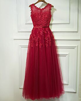 Formal Evening Dress Lace Appliques Bridesmaid Dresses Long Wedding Guest Dresses Beautiful Burgundy Fit And Flare Bohemian