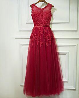 Trauzeugin Kleid Festliche Kleider Schönes Kleider Hochzeitsgäste Applikationen Spitzen Abendkleider Burgunderrot Boho 2019 Fit N Flare