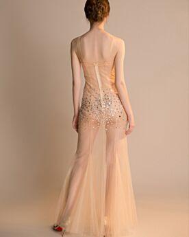Evening Dresses Transparent Long 2019 Gala Dresses Sheath Open Back Sexy Hot Dress