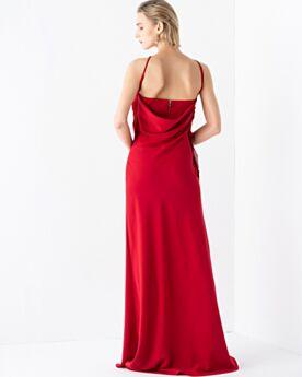 Etui Abendkleid Elegante Rot Chiffon Lange