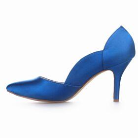 High Heels Wedding Shoes Stilettos Rhinestones Pumps Shoes White Platform Satin