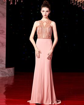 Formal Dresses Charmeuse Juniors Sweet 16 Dresses Cute Out Elegant Sequin Long Coral Sleeveless