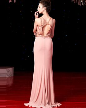 Ärmellos Schöne Abendkleider Cut Out Lange Rückenausschnitt Abiballkleid Elegante Meerjungfrau Partykleider