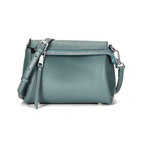 Klein Klassisch Umhängetasche Mode Handtaschen Eisblau Crossbody Bag Leder