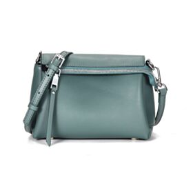 Womens Handbag Crossbody Full Grain Jade Blue Classic Shoulder Bag Fashion