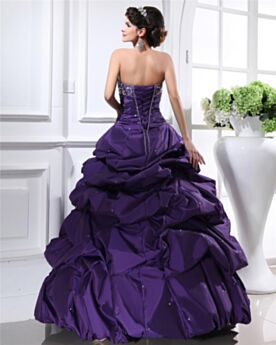 Ruffle Maxi Bandeau Vintage Ball Gowns Spring Open Back Quinceanera Dress Prom Dress