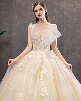 Wedding Dresses Sparkly Sequin Ball Gown Glitter Gorgeous Church Open Back Sleeveless