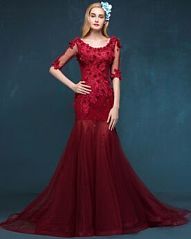 Formal Dresses Engagement Dress Backless Mermaid Lace Luxury Tulle Party Dress 2018 Prom Dress