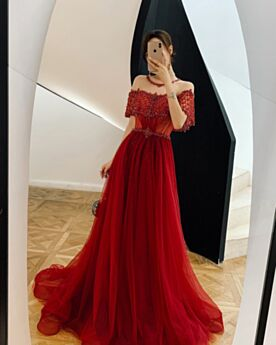 Formal Evening Dress A Line Charming Open Back Luxury Beading
