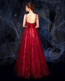 Robe Ceremonie Princesse Bordeaux Velours Dos Nu Robe De Demoiselle D honneur Robes De Bal Glitter