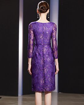 Lace Glitter Long Sleeved Mother Of Bridal Dress Evening Dresses Charming Sheath Appliques