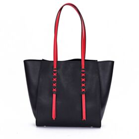 Tas Schoudertas Zwart Colorblock Simpele Tote Bag