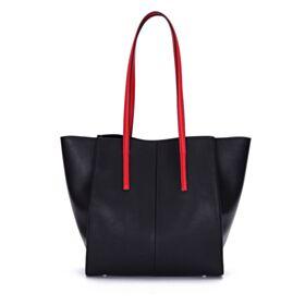 Full Grain Negros De Colores Casuales Moda Bolsos Bandolera Piel Tote Bag Sencillos Bolso