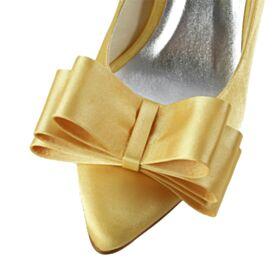 Zapatos Para Boda Amarillo Mostaza Zapatos Mujer Elegantes En Punta Fina Tacon Alto