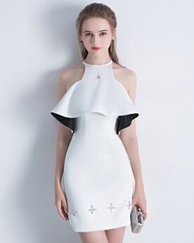 2018 Sheath Peplum Chiffon Graduation Dress Simple Cocktail Dress Short
