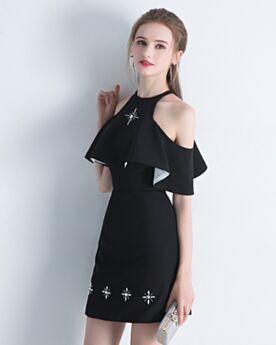 2018 Sheath Peplum Chiffon Graduation Dress Simple Cocktail Dress Short