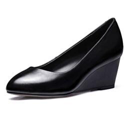 Classique Chaussures Bureau Talon Mid 5 cm Noir Printemps Escarpins Compensées 2018 Simple