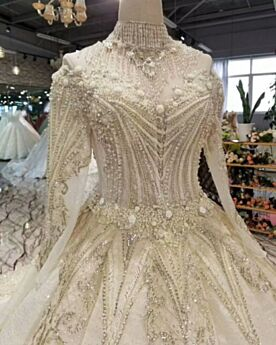 Fringe Open Back Appliques Long Bridals Wedding Dress Off The Shoulder Sparkly Sequin Princess Long Sleeves Lace Ivory