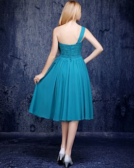 Dress For Wedding One Shoulder Simple Semi Formal Dress Juniors Pleated Bridesmaid Dresses