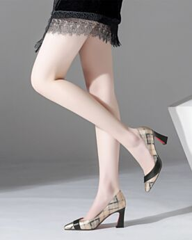 Or Champagne 2020 Talons Hauts Chaussures De Travail Escarpins Cuir Semelle Rouge Bout Pointu Talons Aiguilles