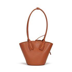 Bruine Casual Schattige Mode Bucket Bag Schoudertas Handtas