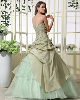 Tulle Prom Dress Ball Gown Sweet 16 Dresses Vintage Open Back Quinceanera Dresses Strapless Beading