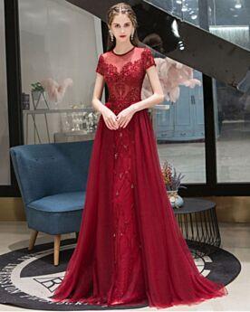 Empire Glitzernden Brautmutterkleid Abendkleid Elegante 2020 Kleider Für Festliche Lange Burgunderrot