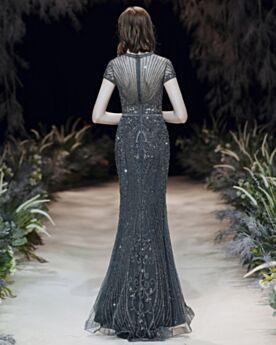 Robe Gala Décolleté Longue Robe De Ceremonie Paillette Fourreau Brillante Luxe