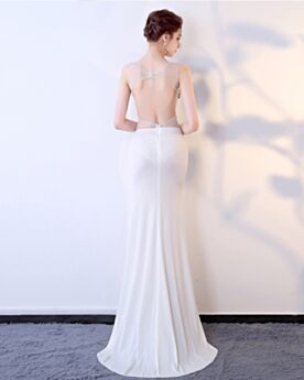 Satin Sheath Formal Evening Dress 2019 Long See Through Gala Dress Plunge Sequin Sexy